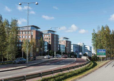 Solna Port, byggnaden